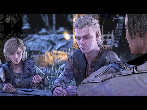 Playing Cards Choices - Clem Opens Up - Haircut Marlon - Walking Dead Final Season 4 Telltale