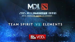 Elements vs Spirit, game 1
