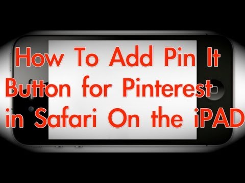 Pinning to Pinterest on the iPad (adding pin it button to safari on iPad)
