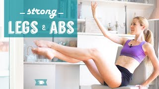 This series of very simple Legs and Abs exercises is accessible for anyone, anywhere you are. Legs and core can be worked by...