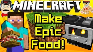 Minecraft MAKE EPIC FOOD! Sandwiches, Fried Bacon, Peanut Butter, Jam&More!