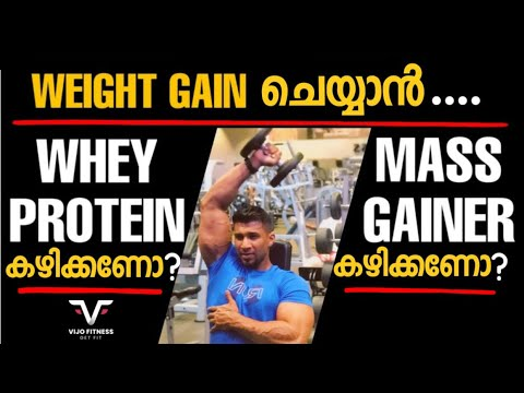 Whey Protein v/s Mass Gainer | Weight Gain ചെയ്യാൻ Whey Protein കഴിക്കണോ അതോ Mass Gainer കഴിക്കണോ |