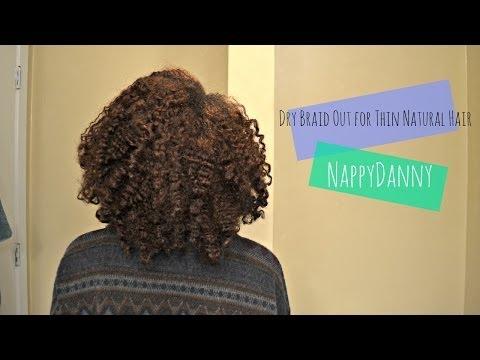 Braid Out for Thin Natural Hair