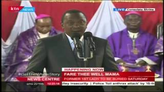 President Uhuru Remembers Mama Lucy as a strong defender of family values