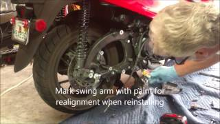 9. Removing Honda Forza Rear Wheel 2014