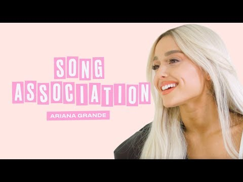 Ariana Grande Premieres a New Song from Sweetener in a Game of Song Association   ELLE