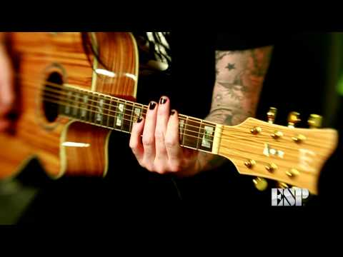 Wednesday 13 demos the LTD Xtone EW-Z Acoustic