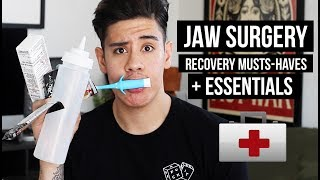 """Welcome back to my channel! Today's going to be a continuation of last weeks video. Since I got so many comments & messages about my surgery I thought it would be great to talk about some essentials that helped me through recovery. Hopefully this video helps someone out there that is going to have this orthognathic  surgery. Best of luck! I'll be back with my regular fashion & lifestyle videos in the next one. ITEMS MENTIONED IN THE VIDEO:Shakeology: http://shk.life/2skpTwRCondiment Bottles: http://amzn.to/2ugiBeVBaby Toothbrush:http://amzn.to/2tVUBOGWaterpik:http://amzn.to/2tm9PzrAfrin Nasal Decongestant: http://amzn.to/2sPeyIDAquaphor (Lip Repair) 3-Pack:http://amzn.to/2tiofzMMemory Foam Wedge Pillow:http://amzn.to/2sZ5pM3Vitamix Blender:http://amzn.to/2ugrCoe▹ BUSINESS INQUIRIES: CONTACT@JAIRWOO.COM▹ SUBSCRIBE! IT'S FREE: http://bit.ly/1fwucqq▹ SNAPCHAT, INSTAGRAM & TWITTER @JAIRWOO▹ TOP 5 SPRING FASHION TRENDS: http://bit.ly/1FZLPAe▹ HOW TO STYLE DENIM JACKET: http://bit.ly/1B5yRue ▹ BUY MY #JWxTV bracelets: http://bit.ly/1BeTk3AS O C I A L M E D I A -✘ S N A P C H A T@JAIRWOO✘ I N S T A G R A Mhttp://www.instagram.com/jairwoo✘ LIKE MY OFFICIAL FACEBOOK!http://facebook.com/officialjairwoo✘ T W I T T E R http://www.twitter.com/jairwoo✘ T U M B L R http://www.jairwoo.tumblr.com✘ B L O G http://www.jairwoo.com✘ JAIRWOO TV http://bit.ly/VcCxXXC A M E R A S & E D I T I N G✘ Editing Software: Final Cut Pro Xhttp://apple.co/1lkUrII✘ Camera: Canon EOS 70D SLRhttp://amzn.to/1HrenUL----------------------------------------------------------""""A leading YouTube Mens Fashion & Lifestyleguru based in Palm Springs, who hasearned 330K+ subscribers. Jair offersinformative, educational, and funtutorials as well as mens products,hair styling advice, and tips onpersonal style."""""""