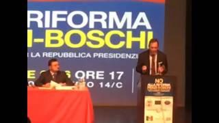 """MANIFESTAZIONE """"NO ALLA RIFORMA RENZI-BOSCHI"""" — Roma 22 settembre"""