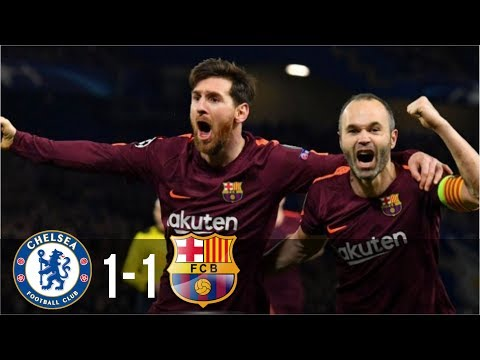 Chelsea Vs Barcelona 1-1 - All Goals & Highlights UCL 21/02/2018 HD
