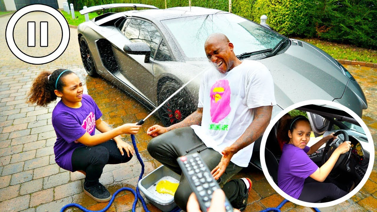 PAUSE CHALLENGE WITH MY DAD FOR 24 HOURS!! - YouTube