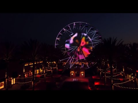 Redesigned Irvine Spectrum Ferris Wheel Now Illuminated by LED Light Show
