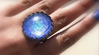 DIY IDEAS: How to make jewelry rings with nail polish, Create Your Own Nail Polish Jewelry Cabochon - YouTube