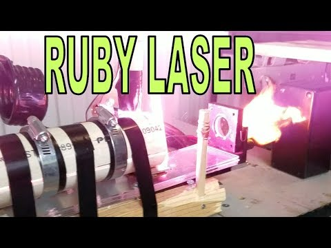 I built an actual pulsed laser cannon (13kJ ruby laser)