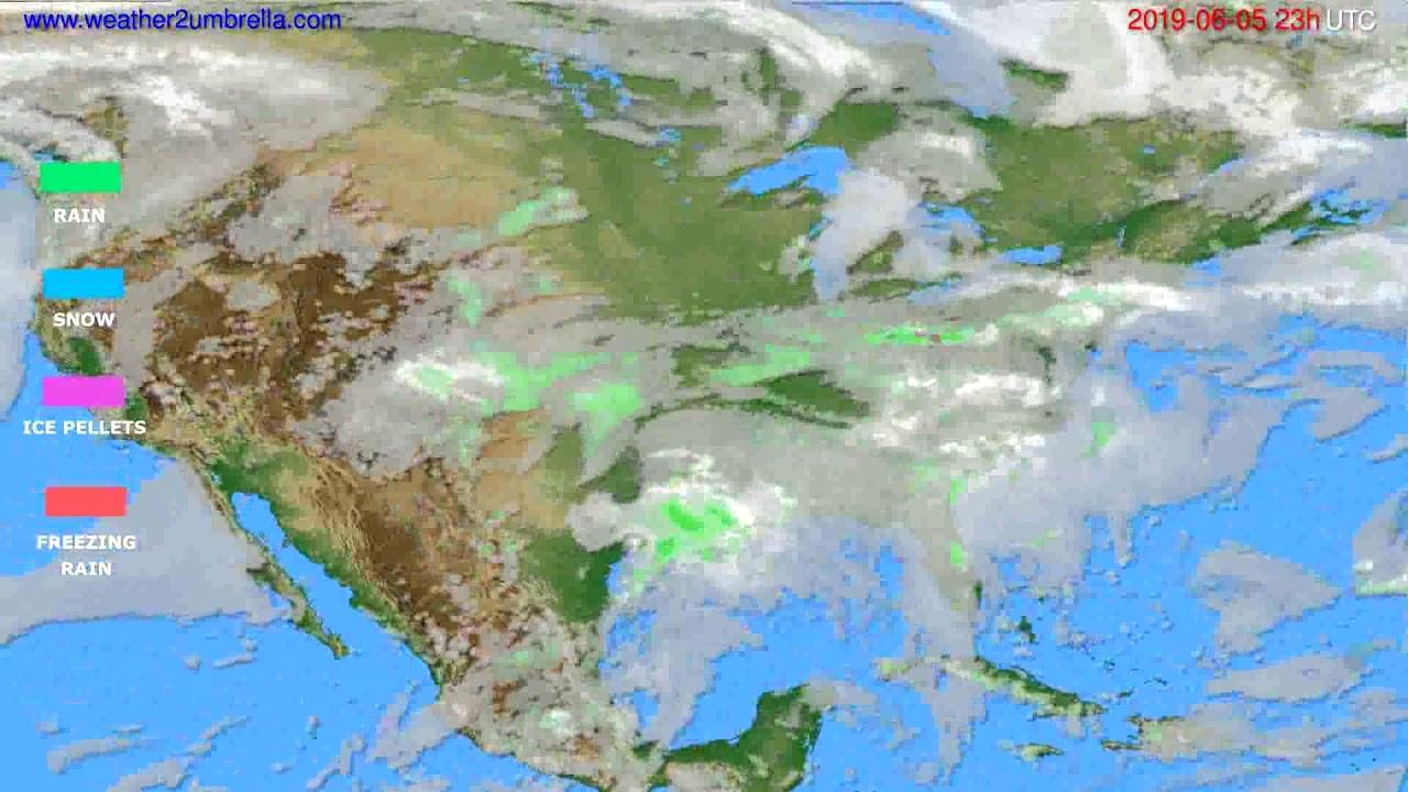 Precipitation forecast USA & Canada // modelrun: 12h UTC 2019-06-02