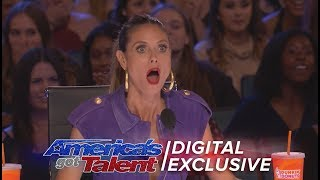 Best Heidi Klum Reactions - America's Got Talent 2017 (Extra)