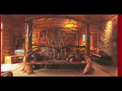 Эксклюзивная мебель из цельного дерева и корней своими руками.