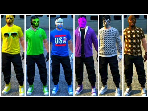 Canvas Shoes With Black Joggers (GTA 5 - PS3 And XBOX 360)