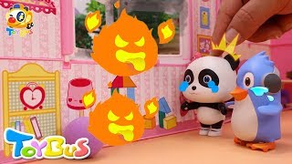Video Help! Baby Panda's Trapped in a Big Fire | Super Firefighter Rescue Team | Kids Safety Tips | ToyBus MP3, 3GP, MP4, WEBM, AVI, FLV September 2018