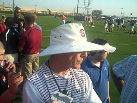 0 Ellis Johnson Speaks After Gamecocks 5th Spring Practice