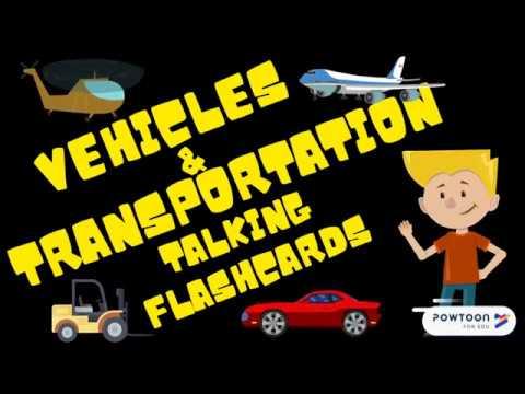 Vehicles and Transportation Talking Flashcards