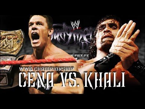 John Cena vs The Great Khali WWE Championship Judgment Day 2007 Full Match   YouTube