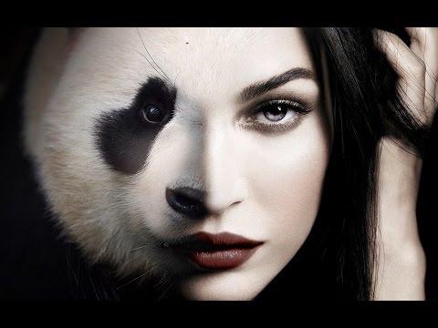 #3 - Adobe Photoshop CC - Tutorial - face blend, half woman half animal
