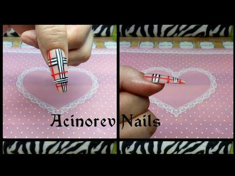 Uñas acrilicas - Uñas acrílicas sin tip ni forma escultural...Reto!!/ Burberry Nails