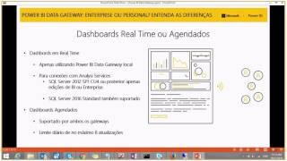 Power BI Data Gateway, Enterprise ou Personal