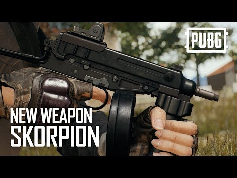 PUBG新增全新自動手槍Skorpion 這把幾乎等於衝鋒槍了吧?