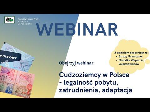 """Webinar """"Cudzoziemcy w Polsce – legalność pobytu, zatrudnienia, adaptacja"""""""