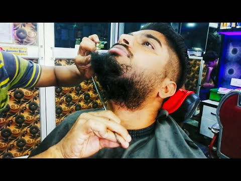 Beard styles - My New Hair Style  Indian Vlogger  Trending Men Beard Style In Barbershop Beard Trim & Wet Shave