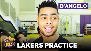 D'Angelo Russell On Being Out 1-2 Weeks With Calf & Knee Injury