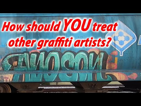 How Should Graffiti Artists Treat Each Other?! | Freight Tain Watching Ep 10
