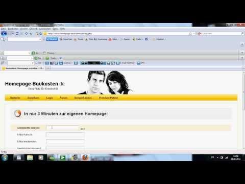 Eigene Homepage erstellen 2011