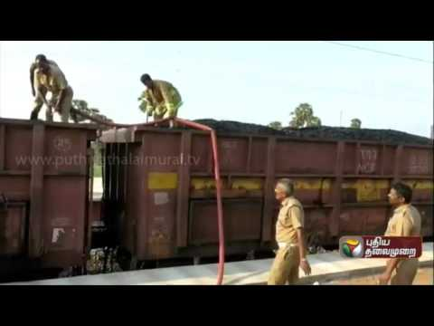Goods-train-carrying-coal-catches-fire-at-Gudiyatham-affecting-rail-traffic