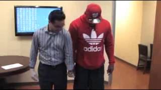 Allen Bradford of the NFL getting fitted for the BATTLEGUARD Part 2