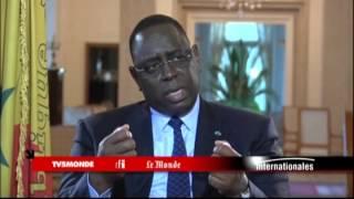 """Macky Sall sur TV5MONDE : L'Afrique ne doit pas être """"mise en quarantaine"""" à cause d'Ebola"""