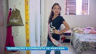 Menina de 9 anos de Bauru dá exemplo de superação