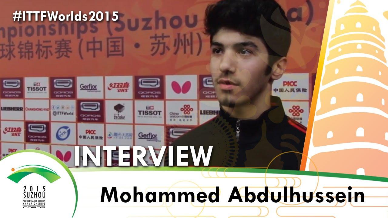Mohammed Abdulhussein – ITTF 2015 World Championships Interview