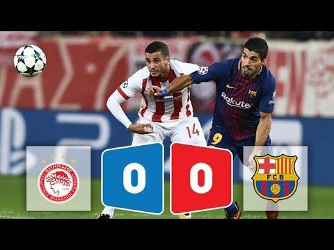 Kết quả bóng đá Olympiakos vs Barcelona 0-0 ngày 1/11/2017 (Champions League 2017/18)