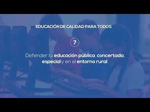 Nuestro contrato con España - Educación