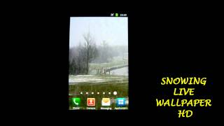 Snowing Live Wallpaper HD YouTube video
