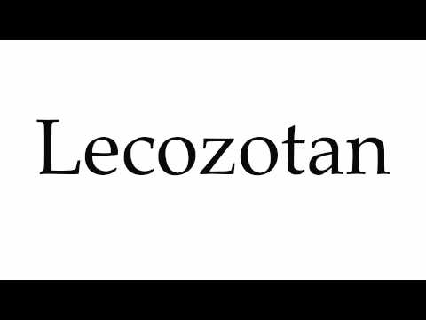 How to Pronounce Lecozotan