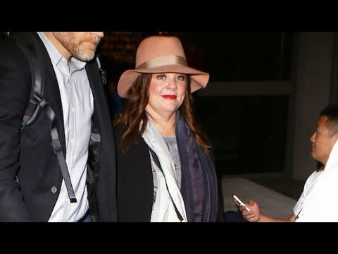 Melissa McCarthy Swarmed By Adoring Fans At LAX