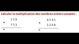 Maths 6ème - Les opérations : Addition Soustraction Multiplication Division Exercice 10