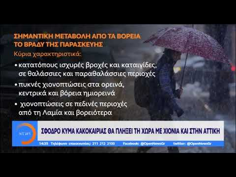 Video - Πολική χιονοκαταιγίδα : Ριπές ανέμων 100 χλμ και θερμοκρασίες στο μηδέν