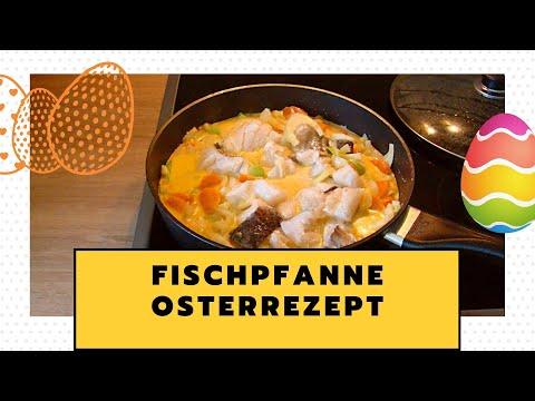 Fischpfanne mit Gemüse - Menü für Ostern - Fischpfanne für Karfreitag