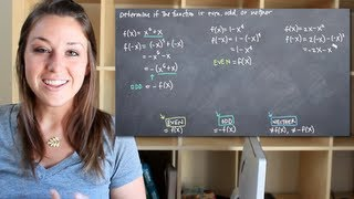 Determining if a function is even, odd or neither (KristaKingM...