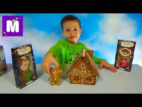 Делаем пряничный домик Джинджерленд украшаем белым шоколадом Ginger Gingerbread house